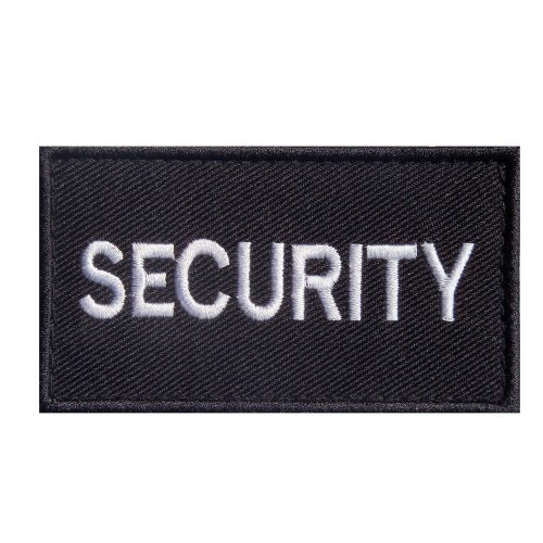 Embroidered SECURITY Patch -Black-9 x 5cm