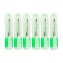 Truecolor 6-pack Color Highlighters Student Clear View Markers Fluorescent Green