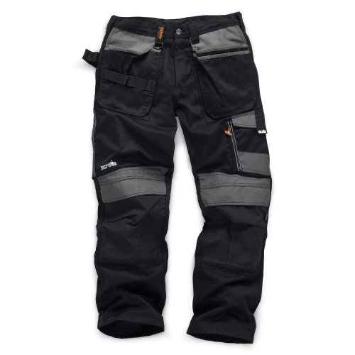 Scruffs 3D Trade Hardwearing Black Work Trousers