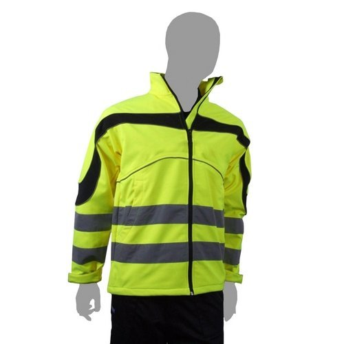 Click ET40SYXXL Hi Vis Yellow Eton Water Resistant And Windproof Soft Shell Jacket XXL