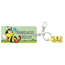 Grandad's Keys Keyring Gift Birthday Christmas Fathers Day Keychain Key Ring Grandads
