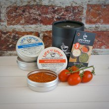 Life of Spice World Collection - Gift Set of 3 Life of Spice Salts, BBQ Rubs and Herbs (75g/40g/14g) - Memphis Belle, Singapore Sling and Fines Herbes