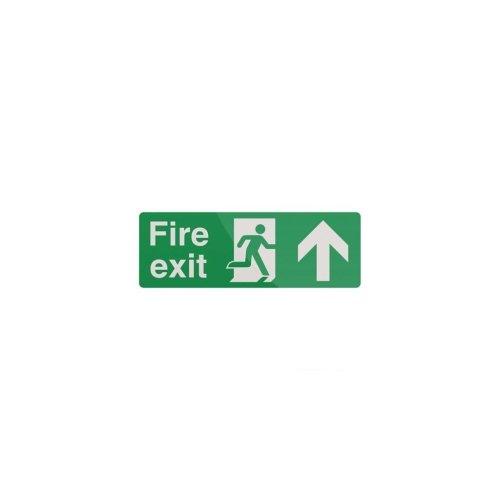 Fire Exit Arrow Sign - 400 x 150mm PL Up