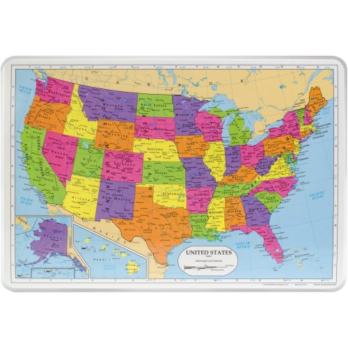 """Painless Learning Laminated Placemats 17.5""""X12.25""""-United States"""