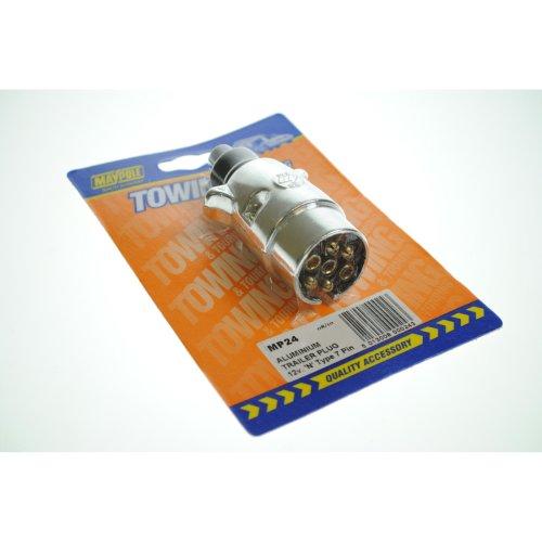 12v 'n' 7 Pin Aluminium Plug - Maypole 12n 7 024 -  plug maypole aluminium 12n 7pin 024