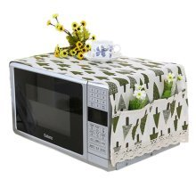 Simple Cotton & Linen Microwave Oven Protective Cover Dust-proof Covers, D