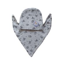 Cotton Material Babies Suit with Bib and Hood (Gray Bears Pattern)