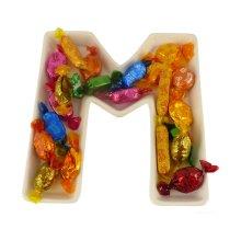 M Alphabet Dish