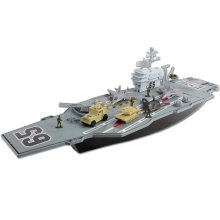 deAO Toys Aircraft Carrier Model Ship Set | Kids' Military Boat Playset