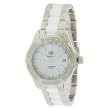 Tag Heuer Aquaracer Stainless Steel and Ceramic Ladies Watch WAY131F.BA0914