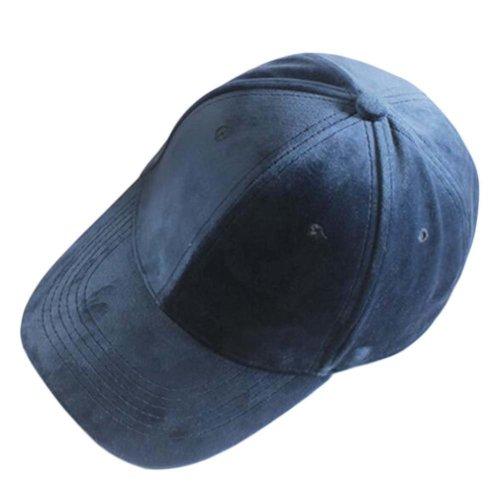 3e52b973d22e34 Velvet Fashion Adjustable Baseball Cap Winter Warm Hat Classic Hat, Navy on  OnBuy