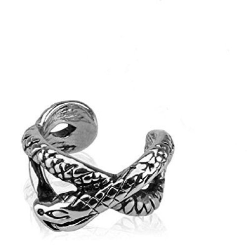 Slithering Snake Charmer Infinity Design Fake Ear Cuff Tragus or Cartilage Non-Piercing