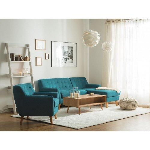 Upholstered Sofa - Couch - Corner Sofa - Blue - MOTALA