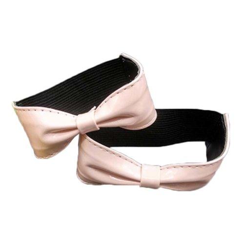 Elasticated Shoe Straps - Bowknot Shape Design - Pink