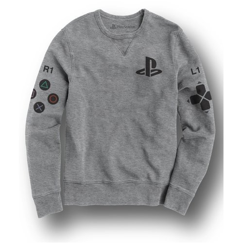 PlayStation w/ Controller & Icons Print Grey Sweat