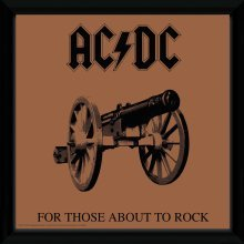 Ac/dc for Those About to Rock Framed Album Print
