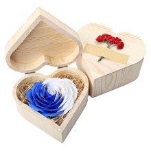 Creative Heart-shaped Wooden Box Soap Box Flowers Gift Box Storage Box