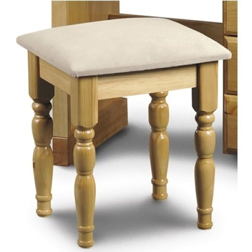 Crenby Pine Dressing Stool Fully Assembled Option
