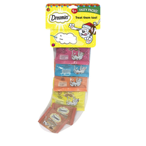 Dreamies Christmas Stocking Cat Treats (Pack of 10)