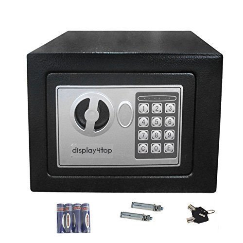 Display4top Security Steel small home Office Digital Electronic Safe Box with Two Keys (17*23*17cm)