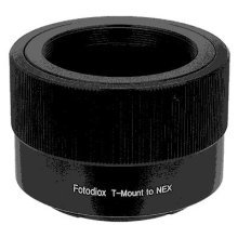 Fotodiox Lens Mount Adapter - T-Mount (T / T-2) Screw Mount SLR Lens to Sony Alpha E-Mount Mirrorless Camera Body
