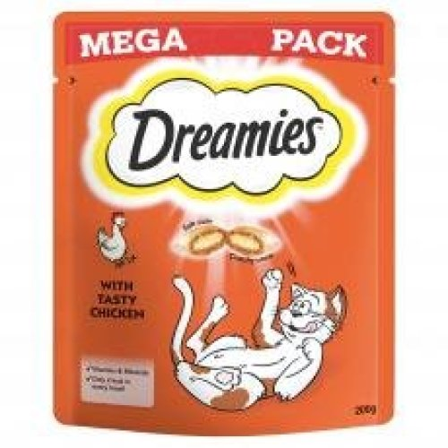 Dreamies Cat Treats With Chicken Mega Pack 200g (Pack of 6)