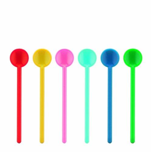 BODUM Bistro Medium Stirring Spoons, Pack of 6, Assorted Colours