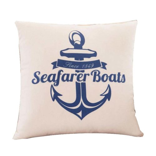 Creative Navy Style Linen&Cotton Hold Pillow Decorative Throw Pillow Cushions