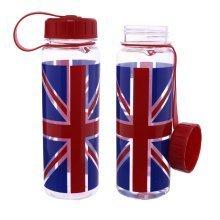 500ml Union Jack Water Bottle Plastic Drinking Running Jogging Gym Souvenir Gift