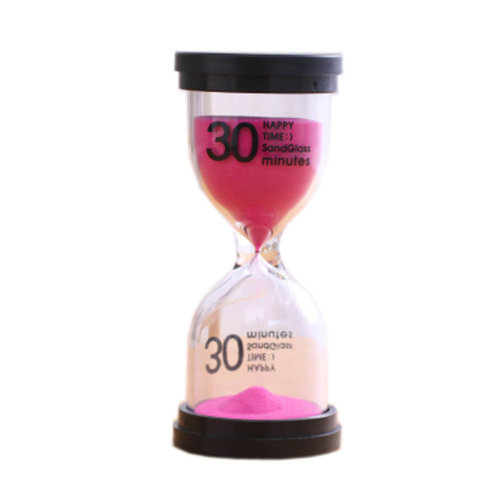 Colorful Sand Timer Hourglass Sandglass Small Ornaments Dropping Ueasily, 30 minutes + Pink
