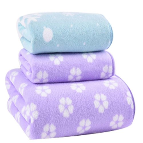 Durable Strong Absorbent Bath Towels Sets(Multicolor)