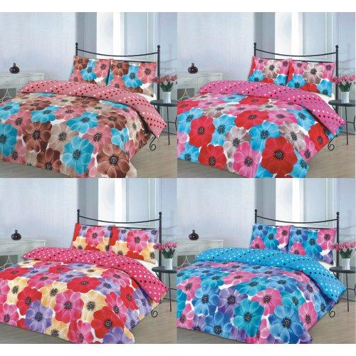 Sophia Printed Floral Duvet Quilt Cover Bedding Set