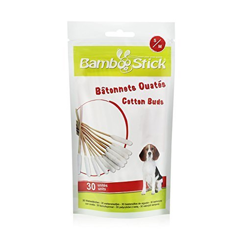 BambooStick Ear Cleaners for Dogs (Pack of 30) (Size: Small/Medium)