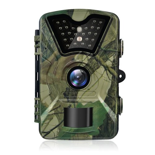 Trail Camera Hykamic 12MP 1080P HD Game&Trail Camera Waterproof IP66 Wildlife Scouting Camera with Infrared Day&Night Version Surveillance Camera