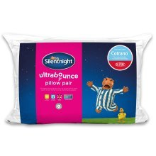 Silentnight Ultrabounce Pillow Plus, 2 Pack, Microfibre, White, Twin