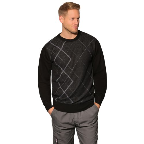 Diamond Print Crew Neck Jumper