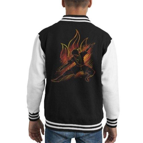 Avatar The Last Airbender Prince Zuko Kid's Varsity Jacket