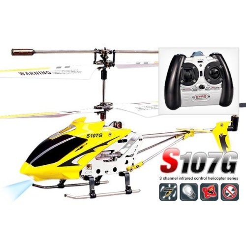 Syma S107G Infrared Controlled Helicopter with Gyroscopic Stability Control - Yellow