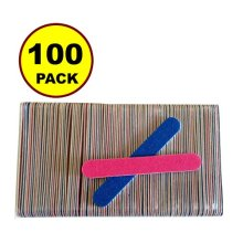 NEW 100 PCS Disposable Professional Beauty Care Nail File 100240 grit nail Buffer Buffing slim cresent tool Toddler Baby nail file
