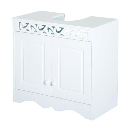Homcom Bathroom Under Sink Storage Cabinet 2 Door Wooden Cupboard Vanity Units