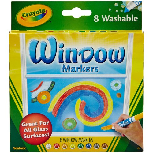 Crayola Washable Window Markers-Assorted Colors 8/Pkg