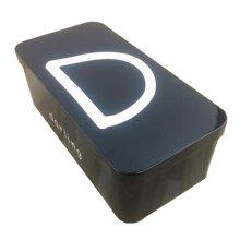 [D] Stylish Double Layer Stationery Case Iron Storage Box Tin Box