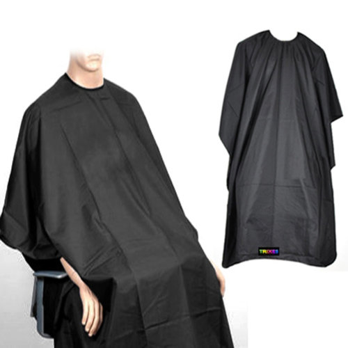 Trixes Black Hairdressing Cape | Salon Gown