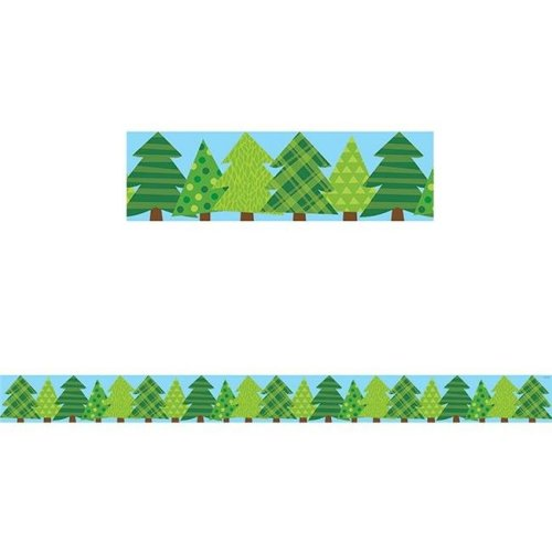 Creative Teaching Press CTP8386BN No. 3 Woodland Friends Pine Trees Border - Pack of 6