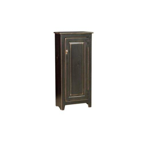Chelsea Home Furniture 465-0201-B Scarlett Cupboard, Black - 48.75 x 42 x 18 in.