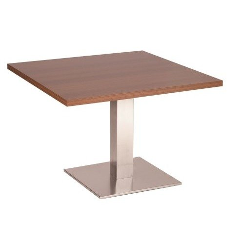 Daniella Coffee Table Stainless Steel Base with Various Size and Colour Tops White Square 600 Square (+10)