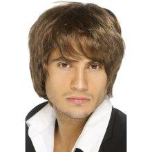 Smiffy's Boy Band Wig - Brown -  wig brown boy band smiffys