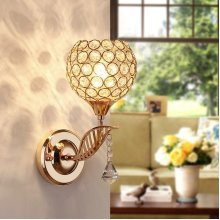 E27 Modern Crystal Wall Light