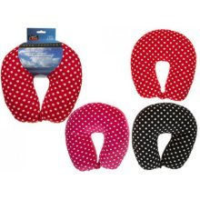 Deluxe Neck Cushions -  polka dot neck cushion pillow adult head support travelcarplanejourney