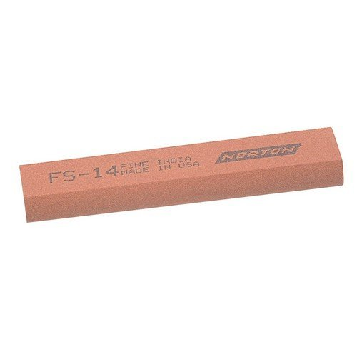India 61463687135 FS14 Round Edge Slipstone 100mm x 25mm x 11mm x 5mm - Fine